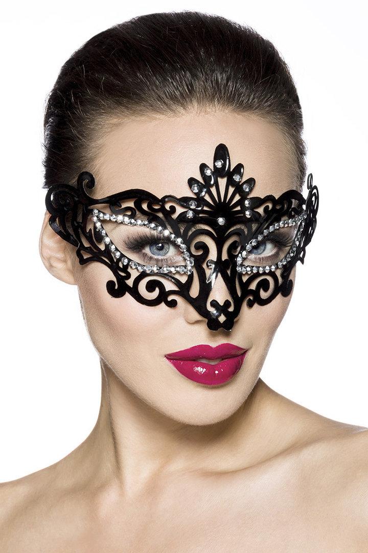 colombina incognito braun venezianische leder maske maskenball ebay. Black Bedroom Furniture Sets. Home Design Ideas