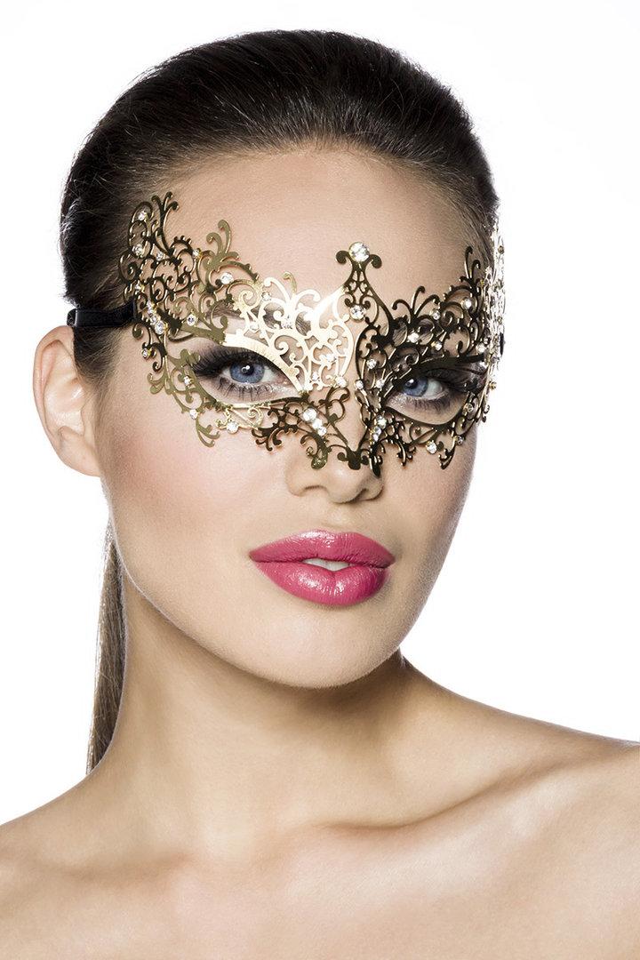 venezianische maske metall gold. Black Bedroom Furniture Sets. Home Design Ideas