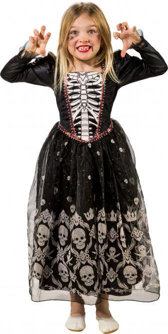 Halloween Kleider Fur Kinder.Totenkopf Kleid Kinder