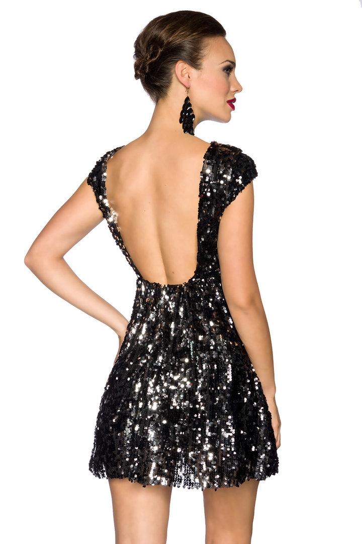 Pailletten Kleid schwarz/silber