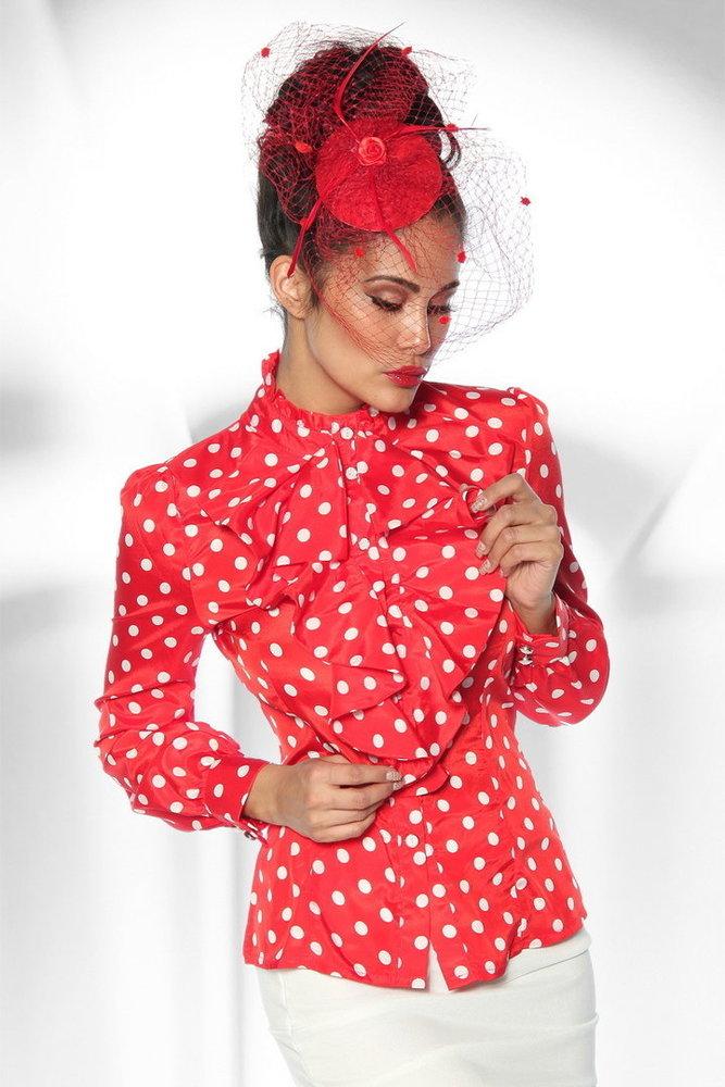 d803cf45f7611b Rockabilly Bluse rot/weiß - Karneval-Depot Günstige Kostüme online