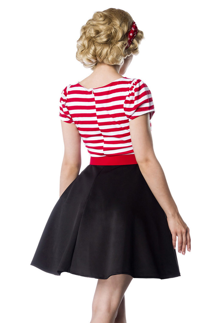 new styles 9205e 4168c Jersey Kleid, schwarz/weiß/rot - Karneval-Depot Günstige ...