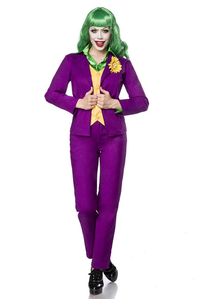 Accessoires 80070 Kleidung & Accessoires Lady Joker Perücke Karneval Fasching Mask Paradise