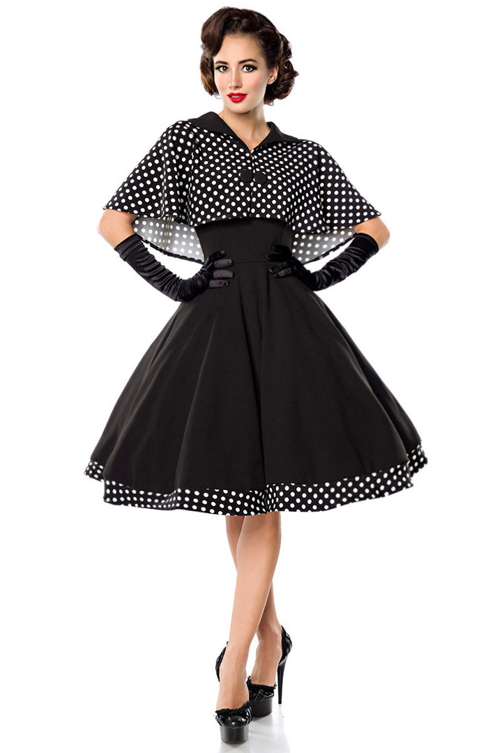 Retro Kleid Swing mit Cape