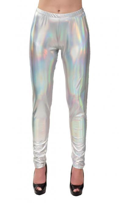 Space Leggings silber